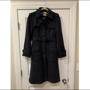 Nanette Lepore long Peacoat Charcoal Gray size 8